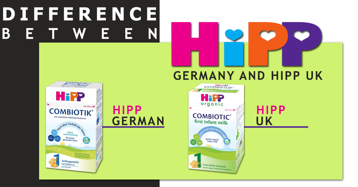 Difference between HiPP Germany and HiPP UK