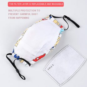 Reusable Kids Face Mask With Filters