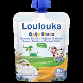 Loulouka Oaty Blues Puree - Banana, Blueberry, Yogurt & Oat