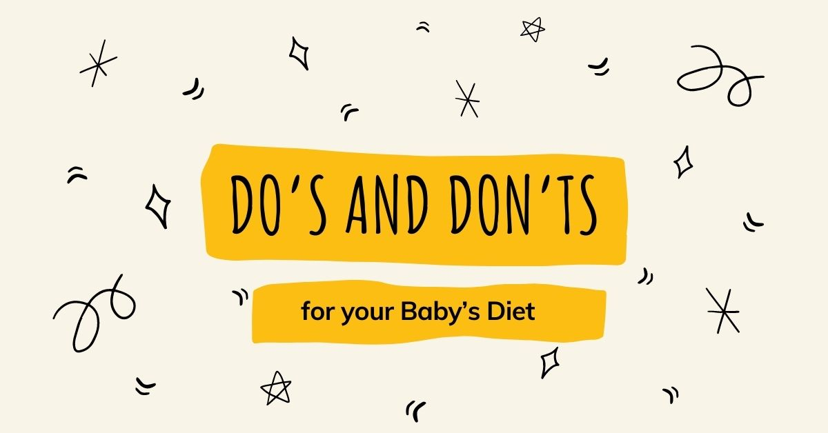 Do's and Don'ts for your Baby's Diet